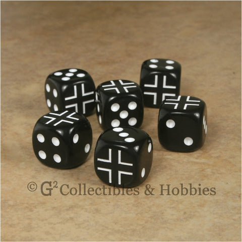 WWII Axis & Allies 6pc Dice Set - German Iron Cross