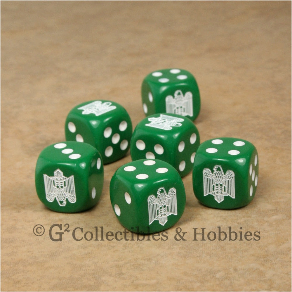 Italian Army Eagle Fasces 6pc Dice Set