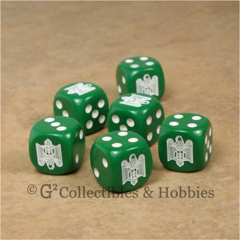 WWII Axis & Allies 6pc Dice Set - Italian Army Eagle Fasces