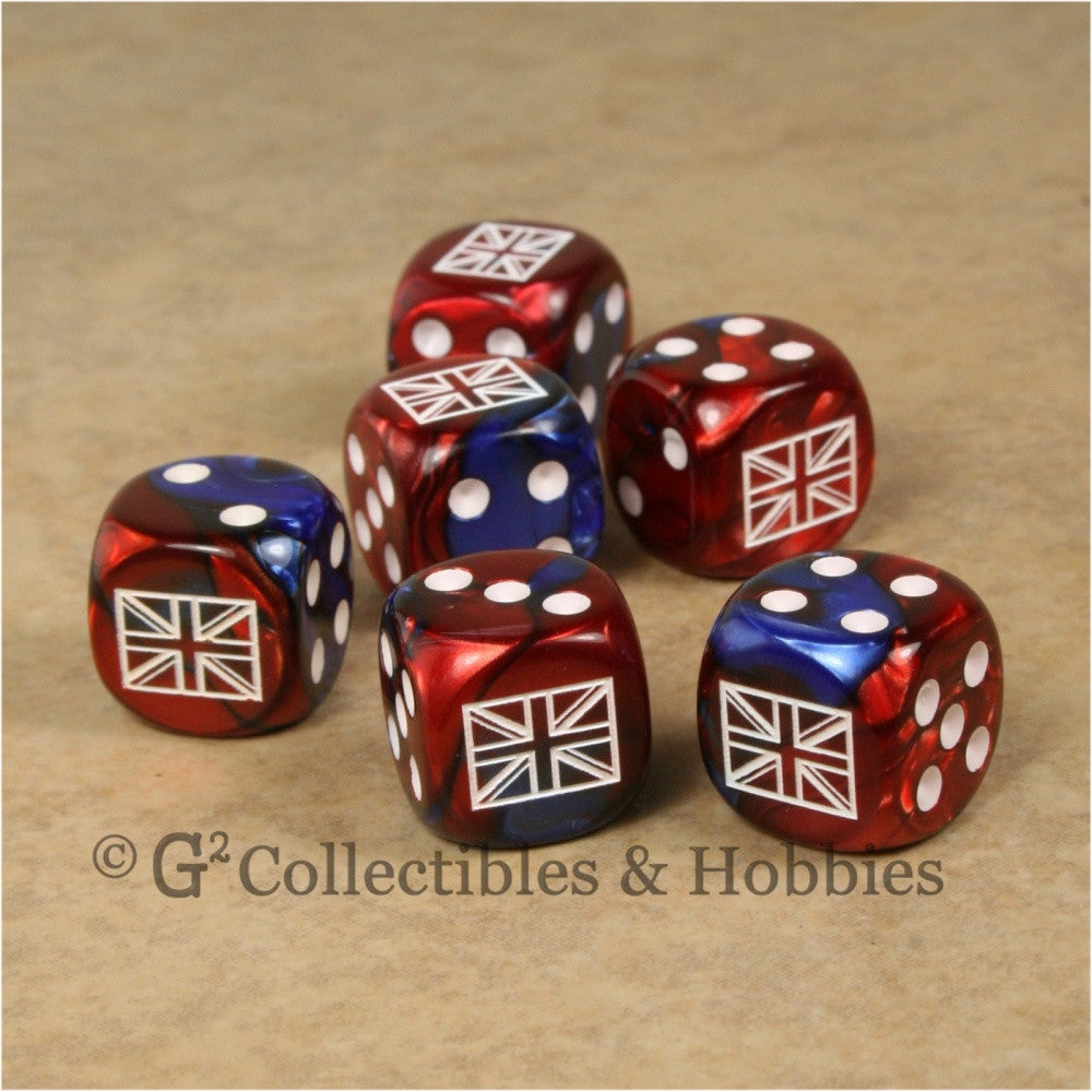 WWII Axis & Allies 6pc Dice Set - British Union Jack