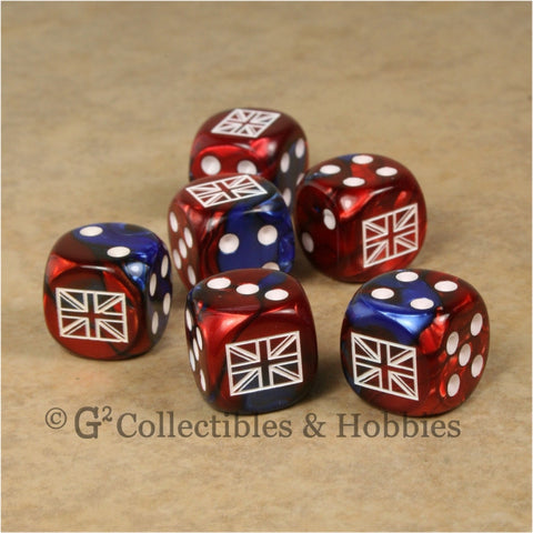 Axis & Allies 6pc Dice Set - British Union Jack