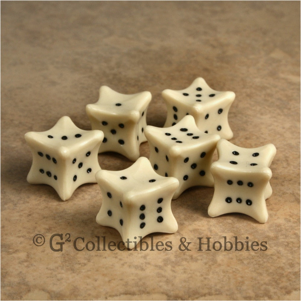 D6 6pc Dice Bones Set