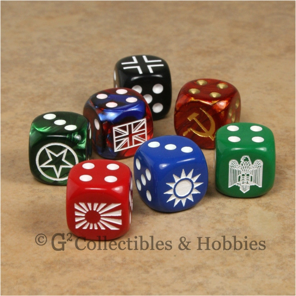 Axis & Allies 7pc Dice Set