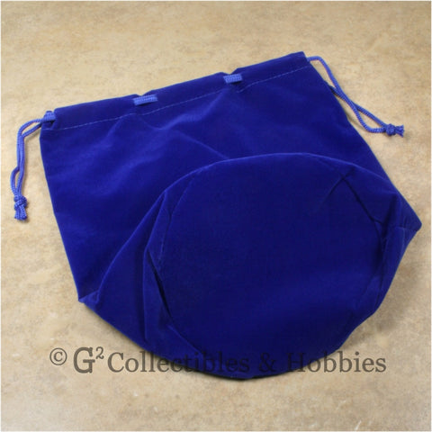 Dice Bag: Extra Large Blue Velveteen