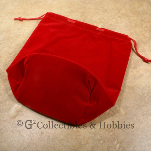 Dice Bag: Extra Large Red Velveteen