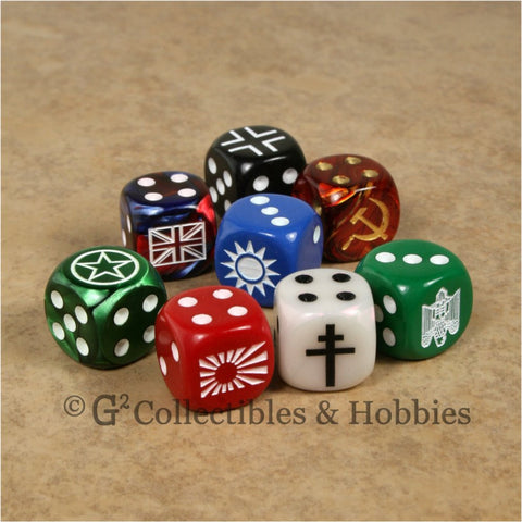 Axis & Allies 8pc Dice Set
