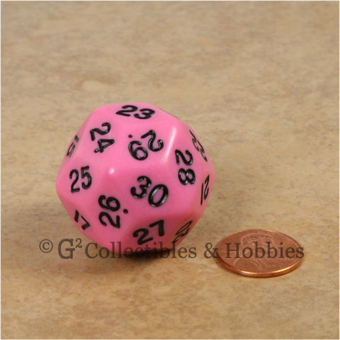 D30 Opaque Pink with Black Numbers