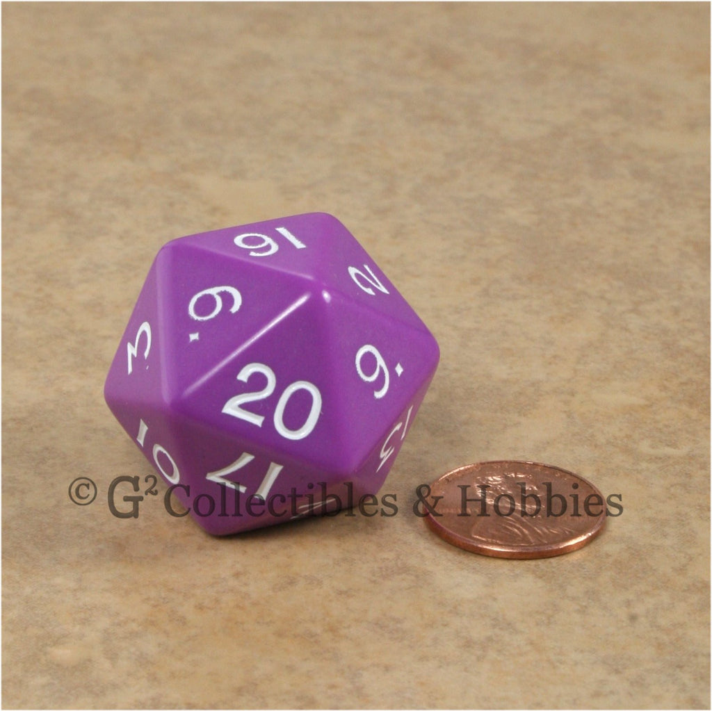 D20 Jumbo 30mm Opaque Purple - New Number Design