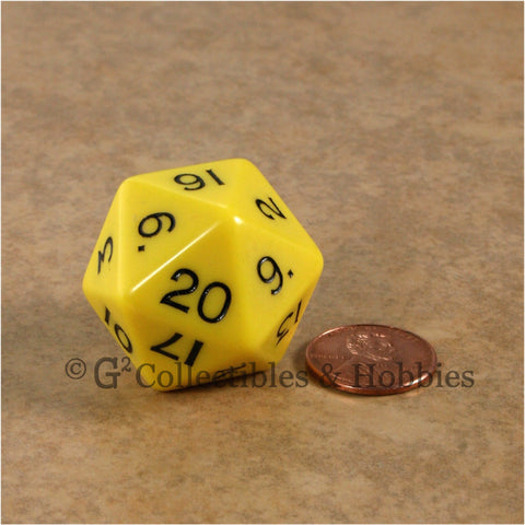 D20 Jumbo 30mm Opaque Yellow - New Number Design