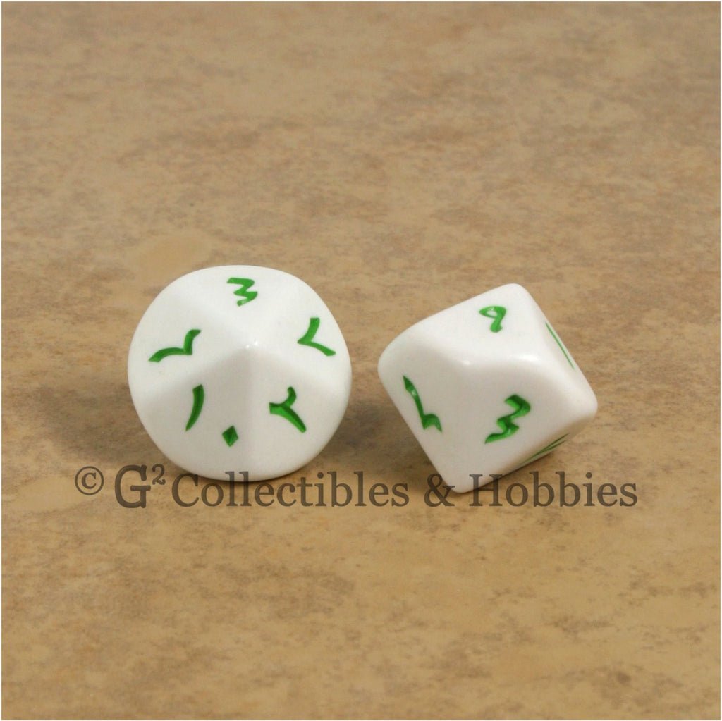 D10 Arabic Indic Numbers Large 20mm Dice Pair