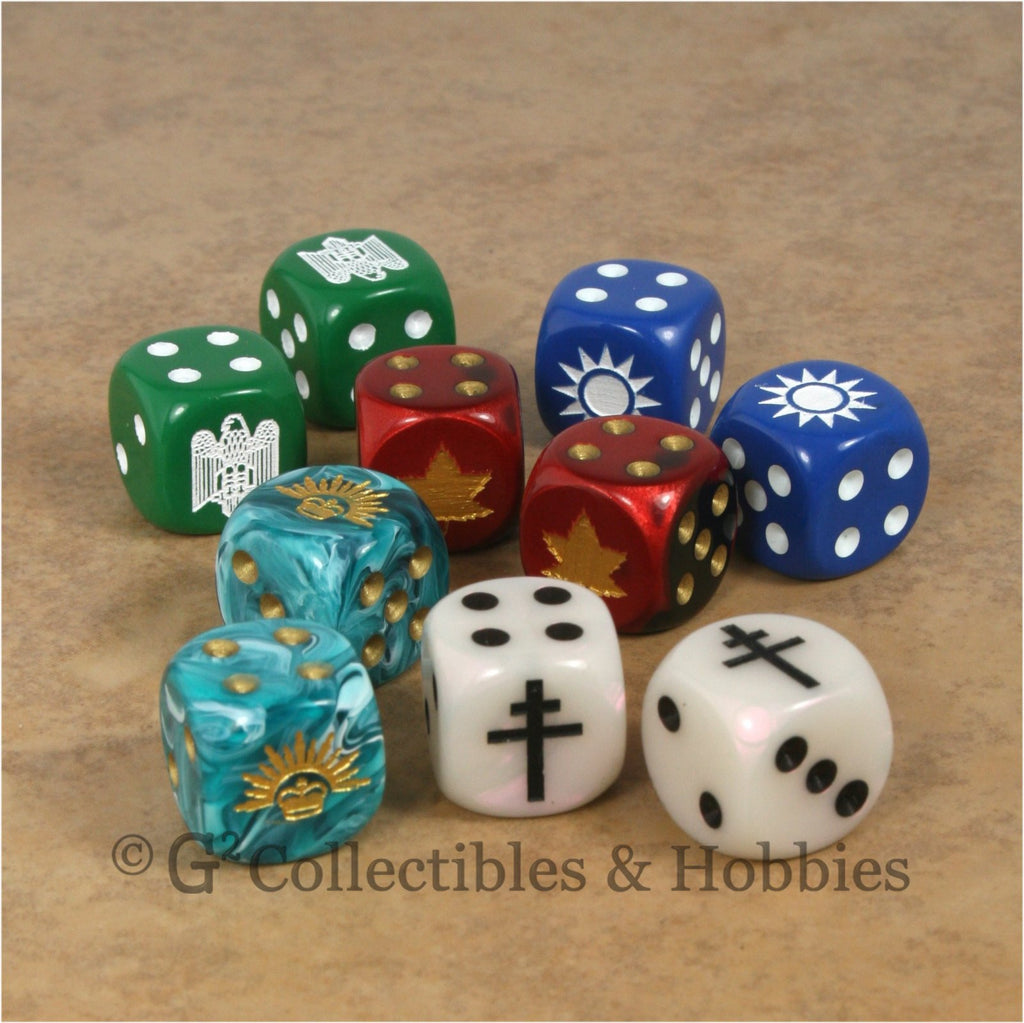 WWII Axis & Allies 10pc Dice - Set C