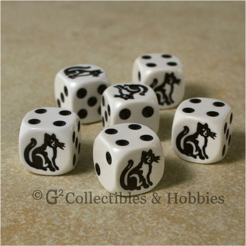 Cat 6pc Dice Set