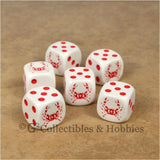 Crab 6pc Dice Set
