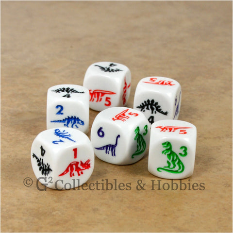 Dinosaur 6pc Dice Set
