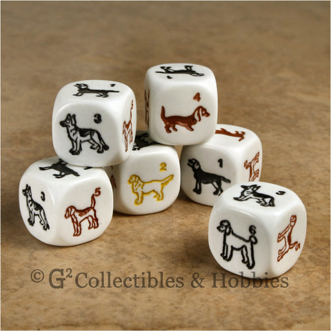 Dog 6pc Dice Set