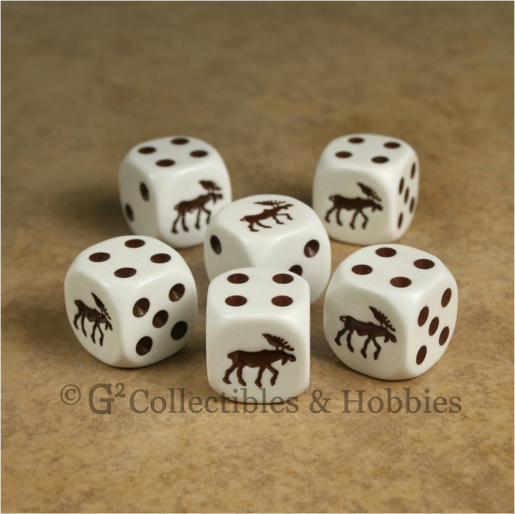 Moose 6pc Dice Set