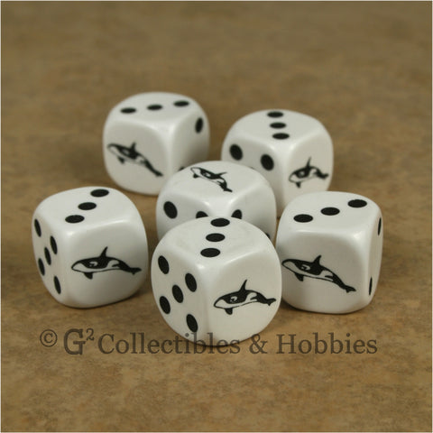 Orca Killer Whale 6pc Dice Set