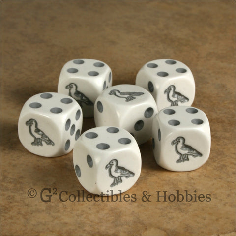 Seagull 6pc Dice Set - White