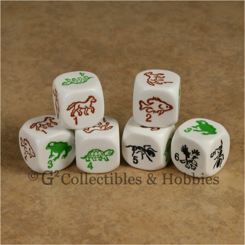 Species 6pc Dice Set - White