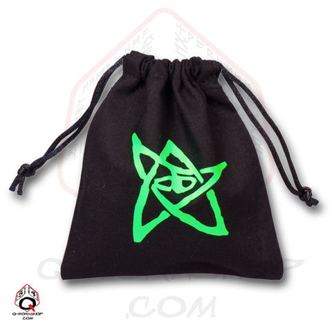 Dice Bag: Small Black Linen Call of Cthulhu Elder Sign