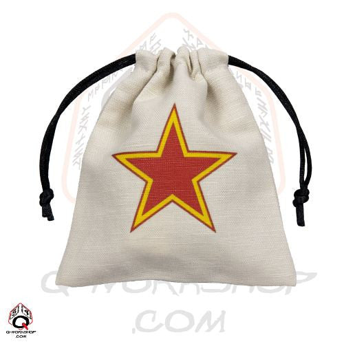 Dice Bag: Small White Linen WWII Soviet Star