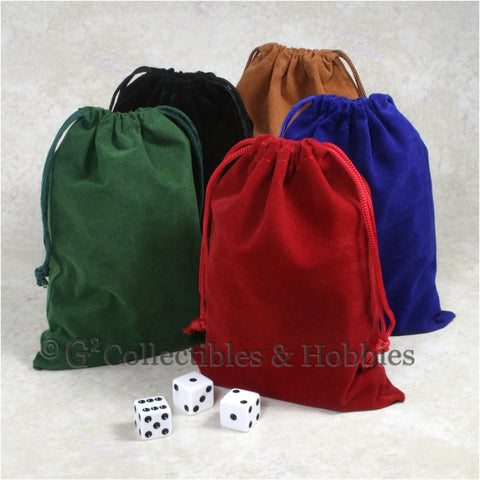 Dice Bag: Large Velveteen - 5pc Set