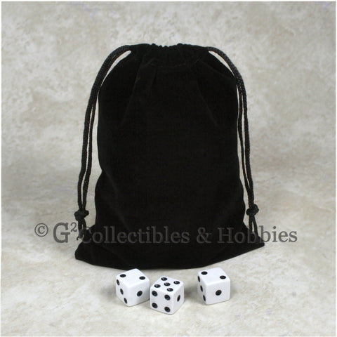Dice Bag: Large Black Velveteen