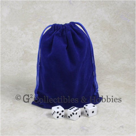 Dice Bag: Large Blue Velveteen