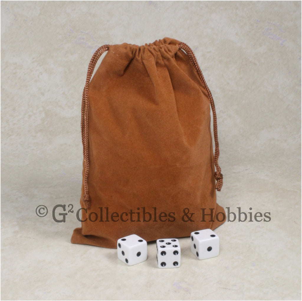 Dice Bag: Large Brown Velveteen
