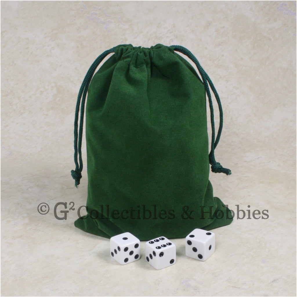 Dice Bag: Large Green Velveteen