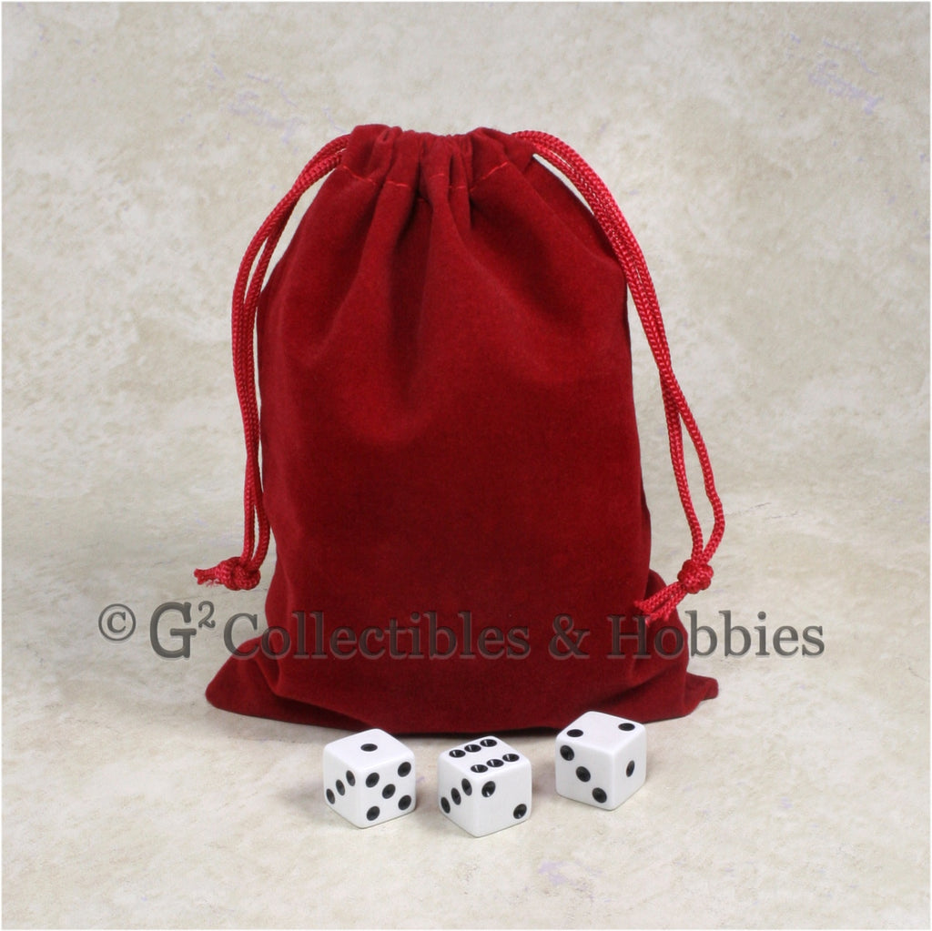 Dice Bag: Large Red Velveteen