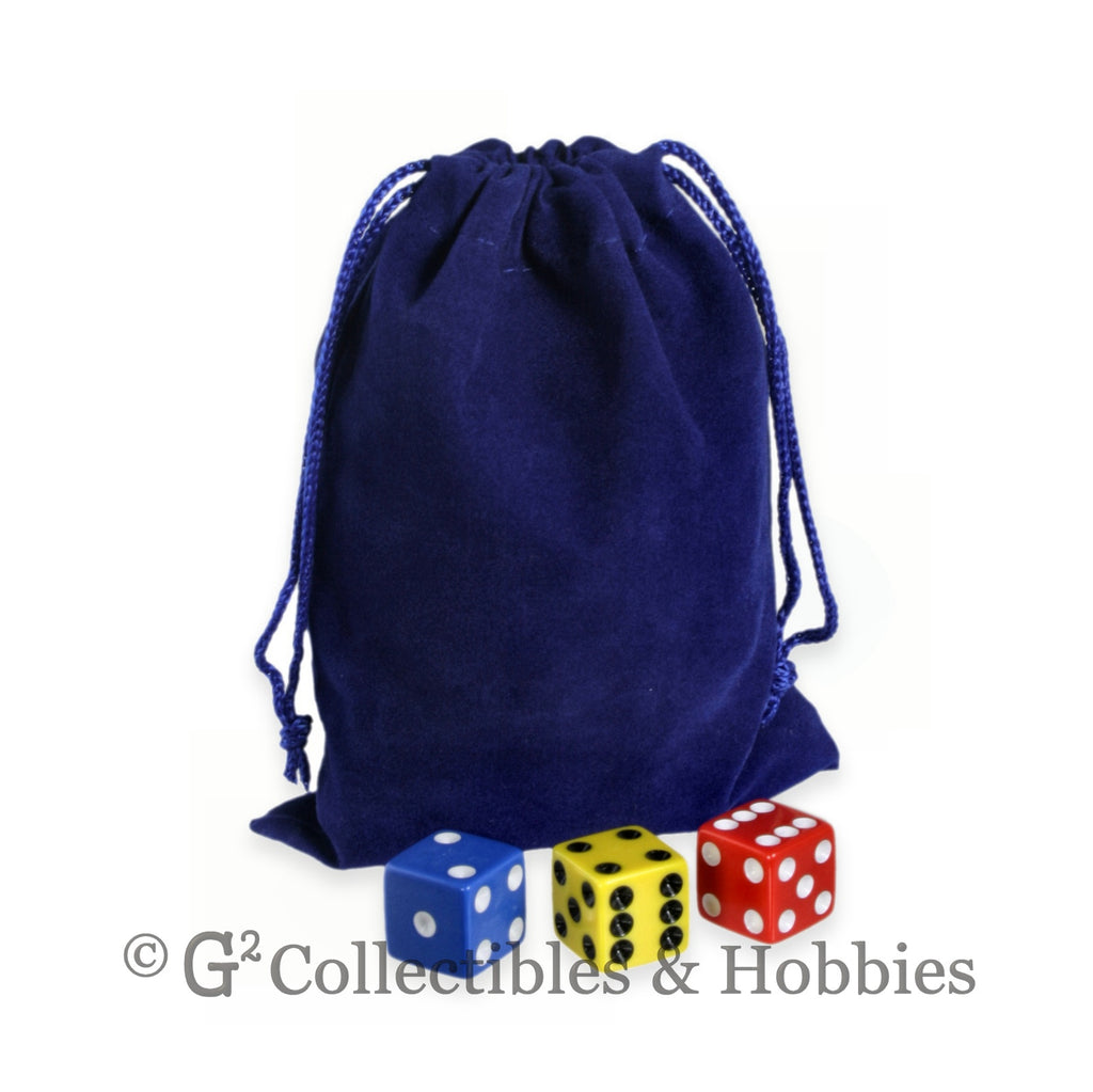 Dice Bag: Medium Blue Velveteen