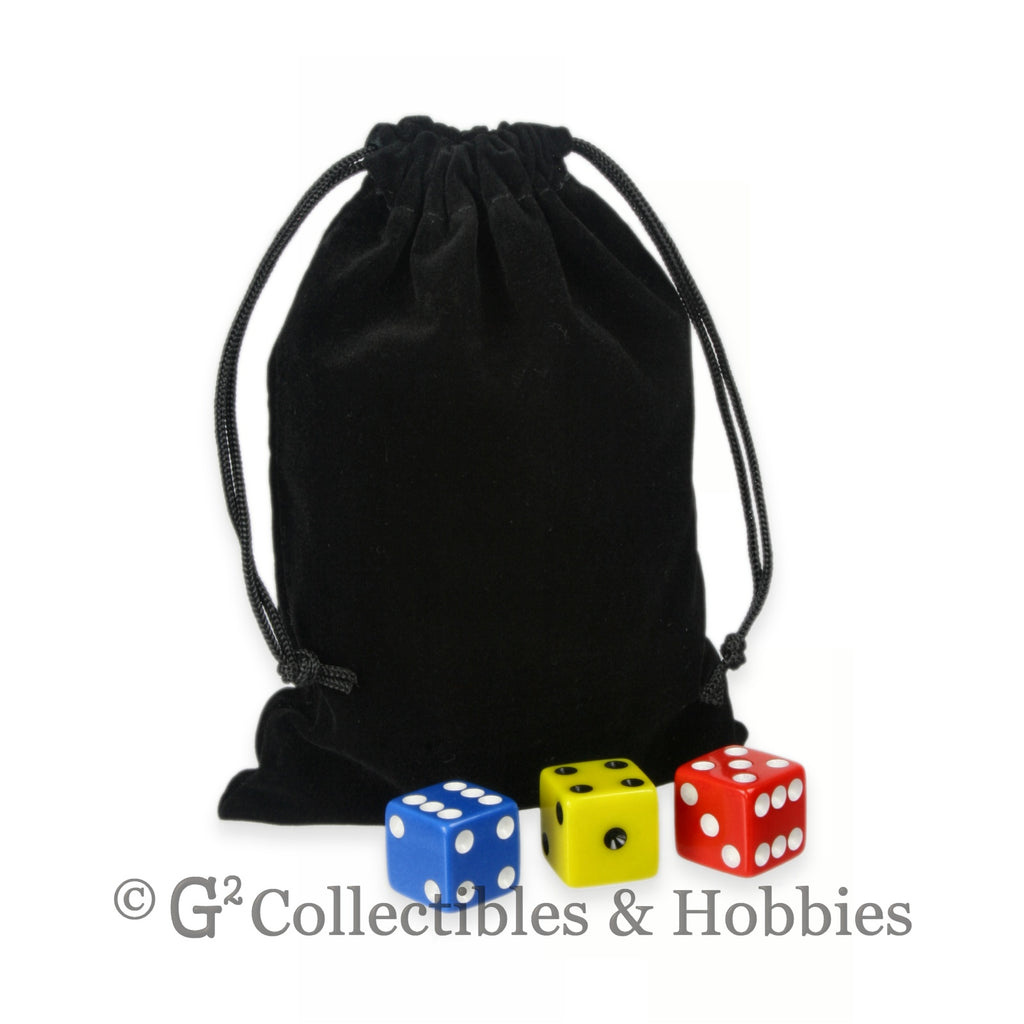 Dice Bag: Medium Black Velveteen