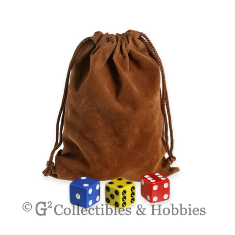 Dice Bag: Medium Brown Velveteen