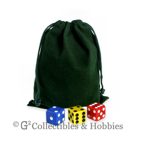 Dice Bag: Medium Green Velveteen