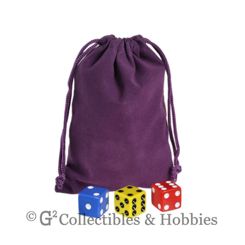 Dice Bag: Medium Purple Velveteen