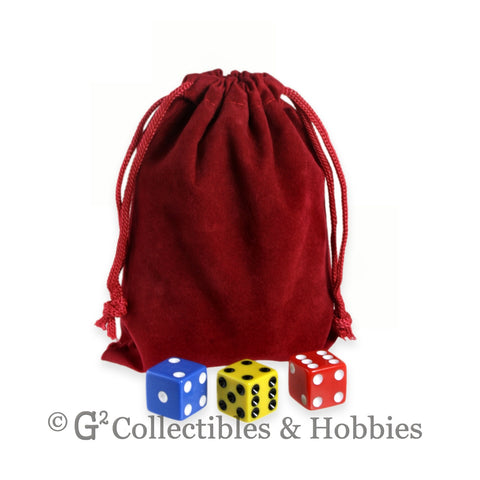 Dice Bag: Medium Red Velveteen