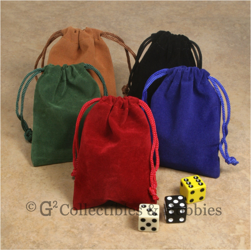 Dice Bag: Small Velveteen - 5pc Set
