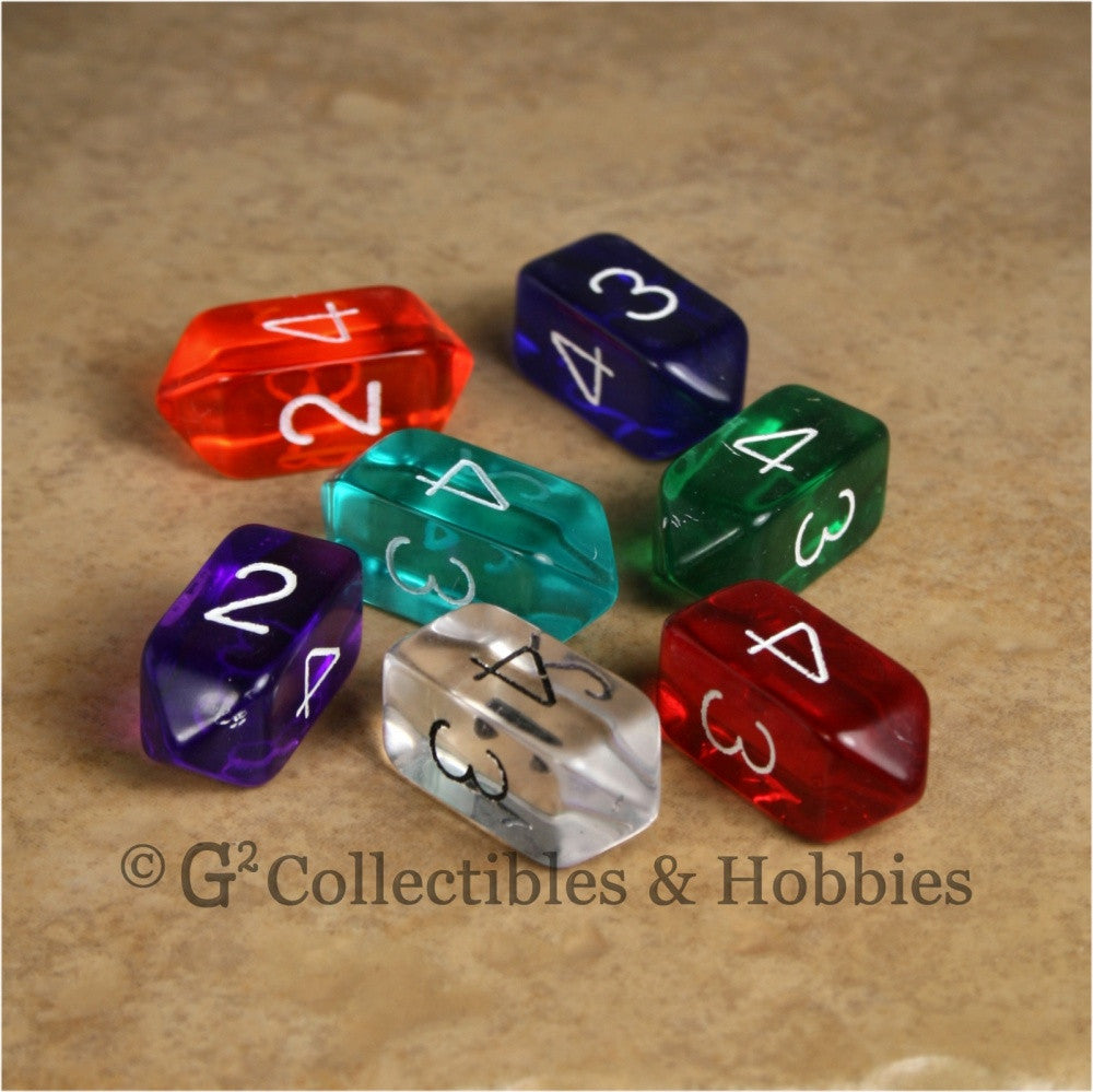 D4 Crystal Transparent Dice 7pc Set