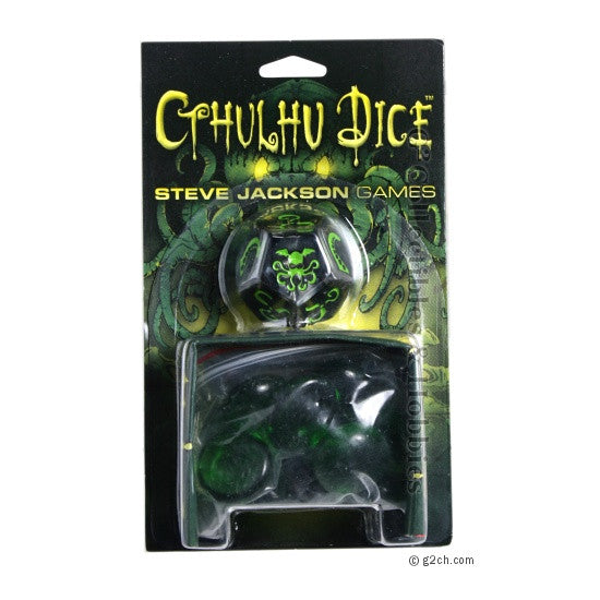 Cthulhu Dice Game - Black / Green
