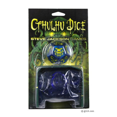 Cthulhu Dice Game - Blue / Yellow