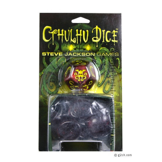 Cthulhu Dice Game - Red / Yellow