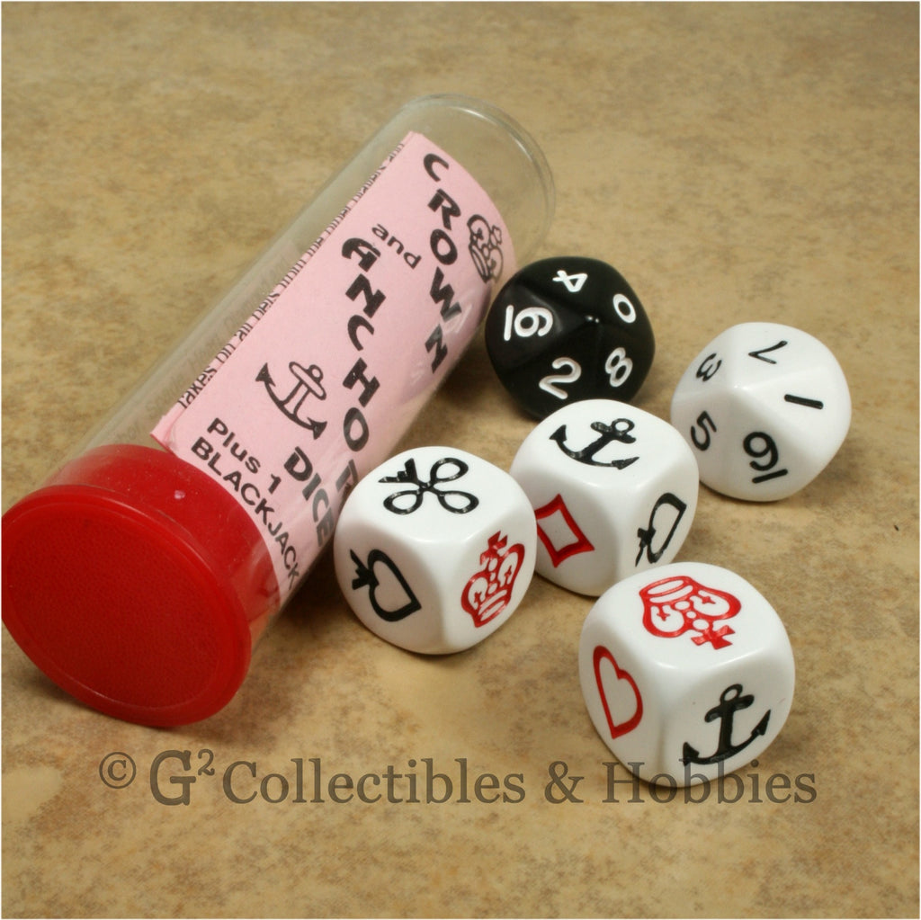 Crown and Anchor Dice Game in Tube