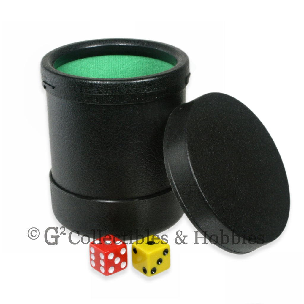 Dice Cup: Black Plastic with Twist Off Lid