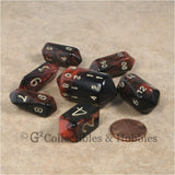 RPG Dice Set Crystal Oblivion Black / Red with Gold 7pc