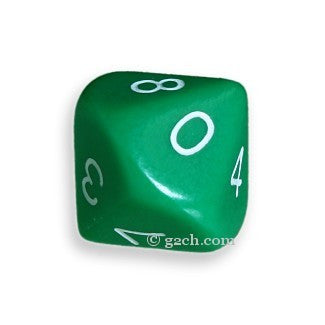 D10 Opaque Green with White Numbers
