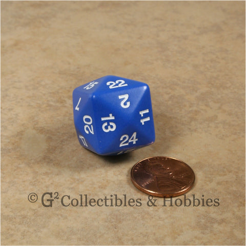 D24 Opaque Blue with White Numbers
