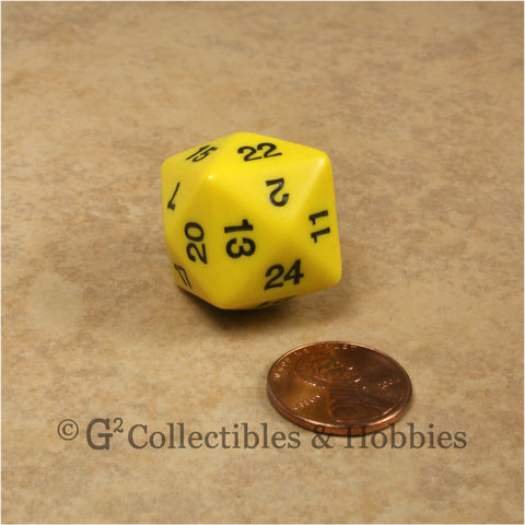D24 Opaque Yellow with Black Numbers