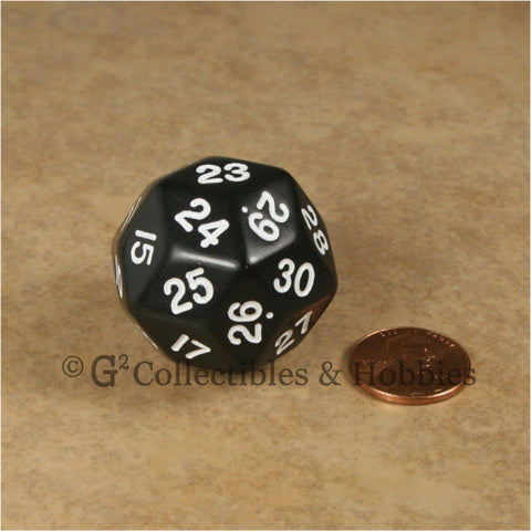 D30 Opaque Black with White Numbers