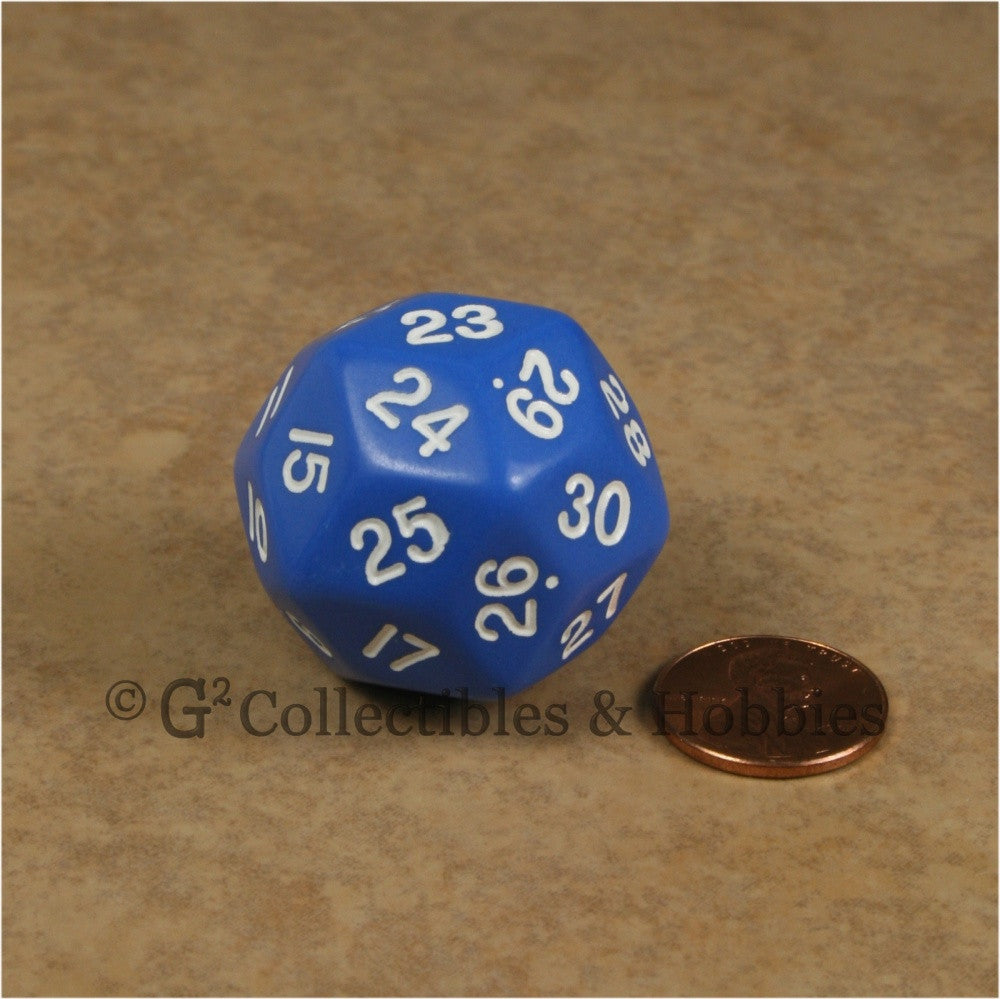 D30 Opaque Blue with White Numbers